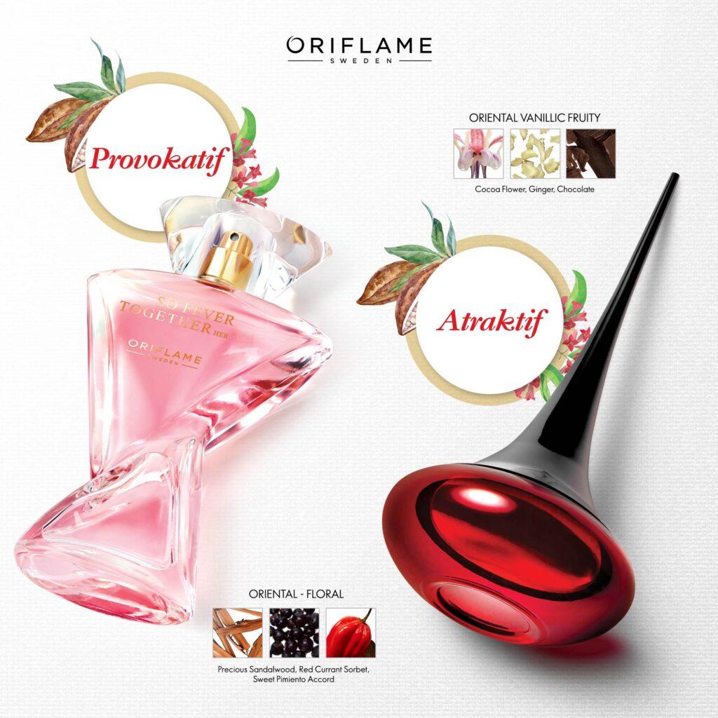 botol parfum unik Oriflame