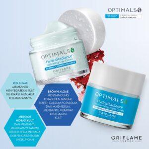 krim perawatan wajah normal kombinasi Oriflame Optimals Hydra Radiance